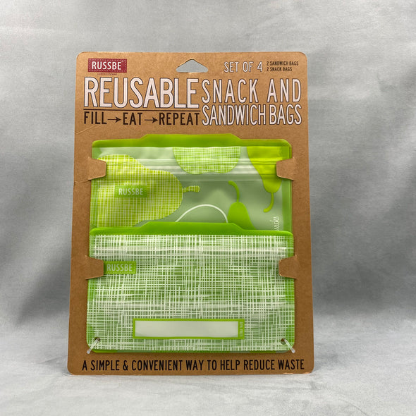 Russbe Reusable Snack And Sandwich Bags Set Of 4 - Pears
