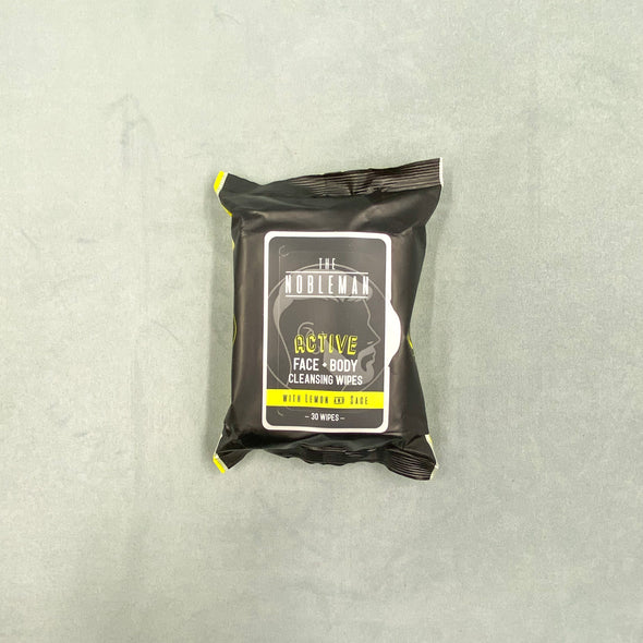 The Nobleman Active Cleansing Wipes - Face + Body - Lemon and Sage