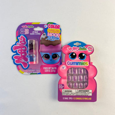 Yoyo Color Changing Lip Balm And Gummies Nail Set