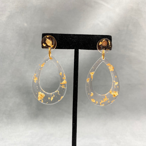 Hand Poured Resin Earring
