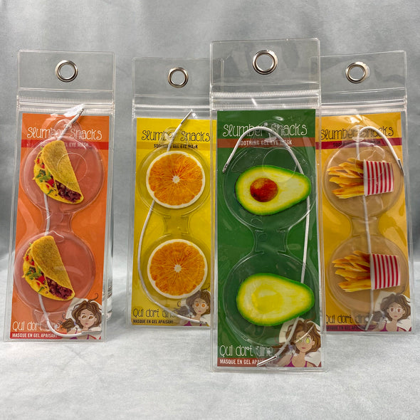Summer Snacks Eye Mask - Tacos - Oranges - Avocado - Fries