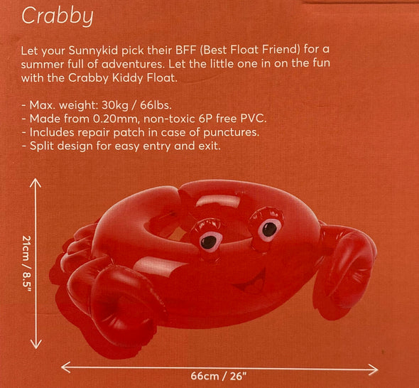 Sunnykids Crabby Kiddy Float