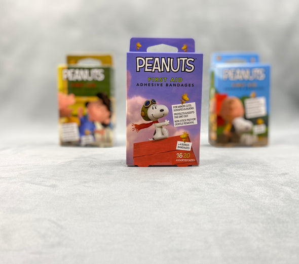 Peanuts First Aid Adhesive Bandages - Snoopy - Charlie Brown - Lucy