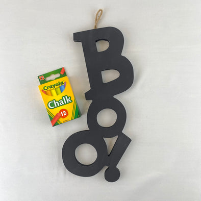 Chalkboard Boo Halloween Décor- Local Artisan