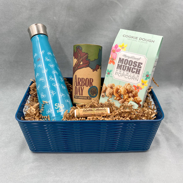 Work From Home Blues Handcrafted Gift - Swell - Sip by Swell - Arbor Day - Tree Growing Kit - Portland Bee Balm - Moose Munch Popcorn