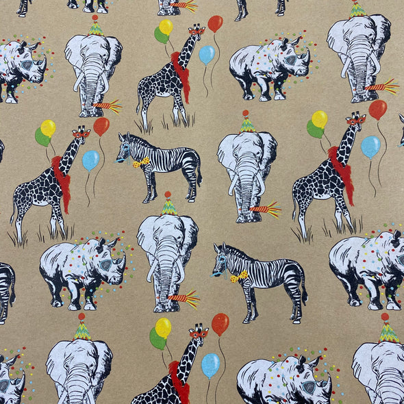 Party Animals Gift Wrap