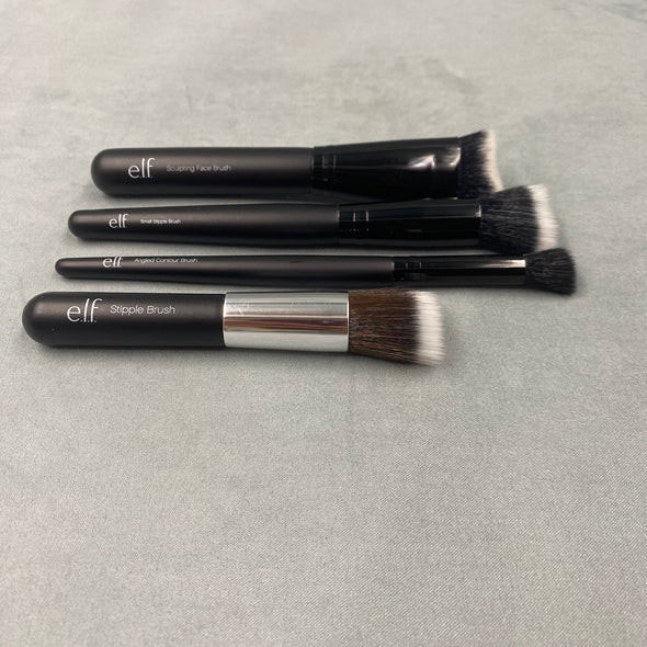 Elf Angled Contour Brush, Elf Sculpting Face Brush, Elf Small Stipple Brush, Elf Stipple Brush