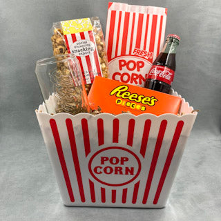 Social Distance Date Night - Handcrafted gift - popcorn - Reeses - Cocoacola