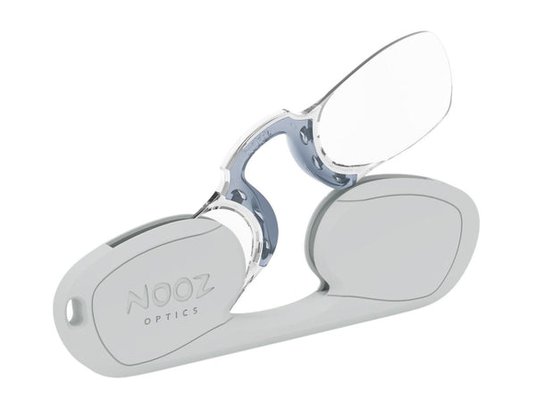 Original Reading Glasses Rectangular Silver 3.0° Nooz Optics