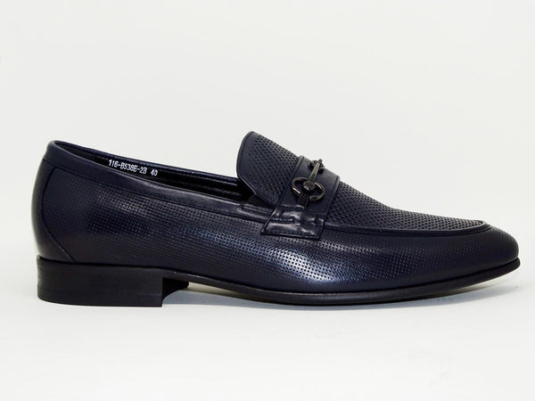 Navy Formal Shoes Slip On - Roberto Fabiani