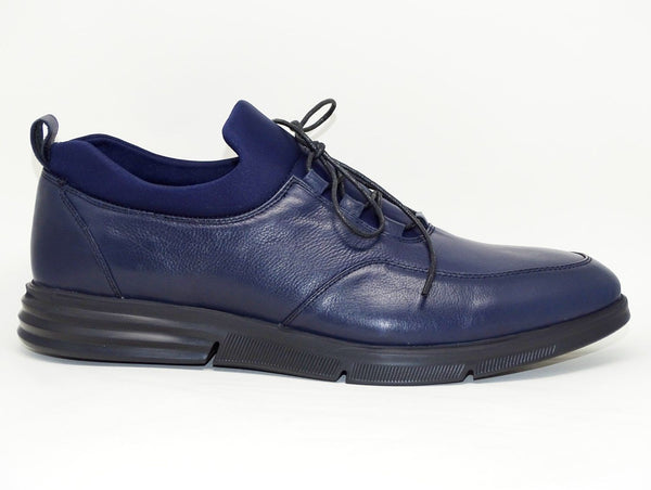 Navy Blue Casual Shoes Lace Up - Roberto Fabiani