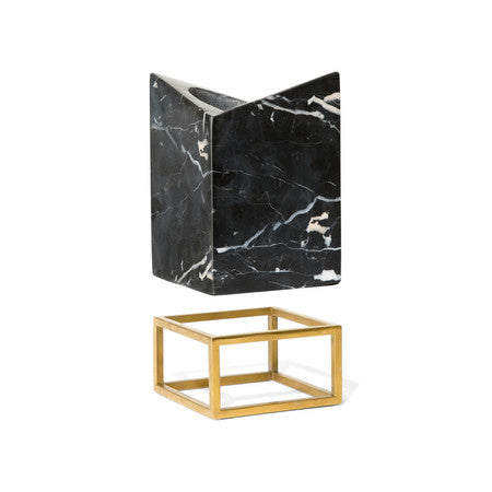Rabbit - Wine Chiller Stand - Marble/Gold