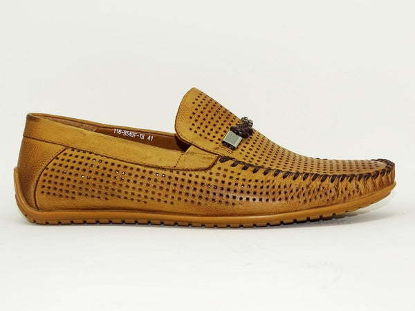 Light Brown Casual Shoes Slip On - Roberto Fabiani