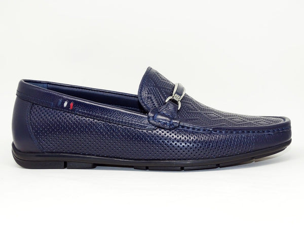 Navy Blue Casual Shoes Slip On - Roberto Fabiani
