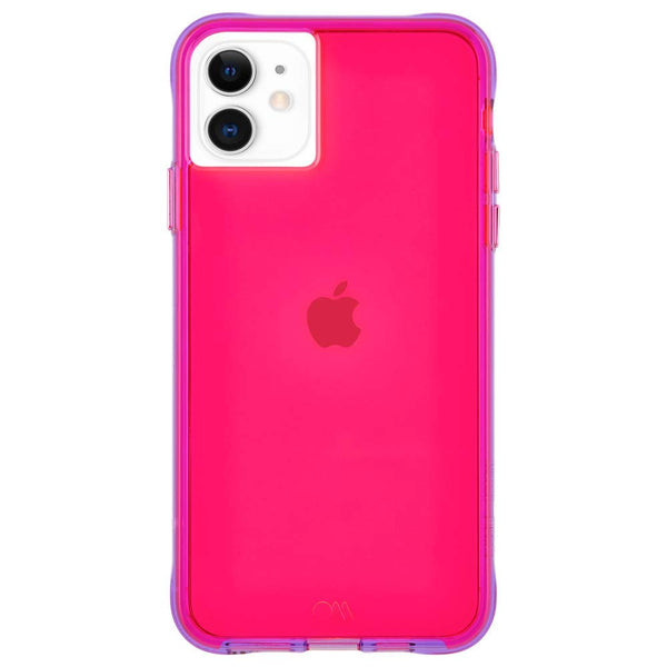 Nina Case for iPhone 11, 6.1-inch (Tough Neon Pink/Purple)