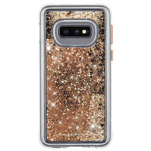 Waterfall Samsung Galaxy S10e Liquid Glitter Case - Gold