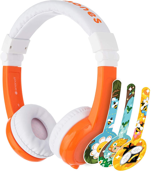 Explore Foldable Headphones With Mic - Orange