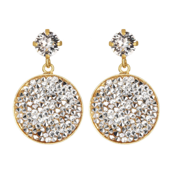 Chloe Rocks Earrings Crystal - Caroline Svedbom