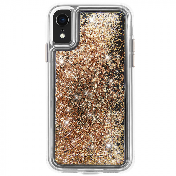 Waterfall Case For iPhone XR Gold
