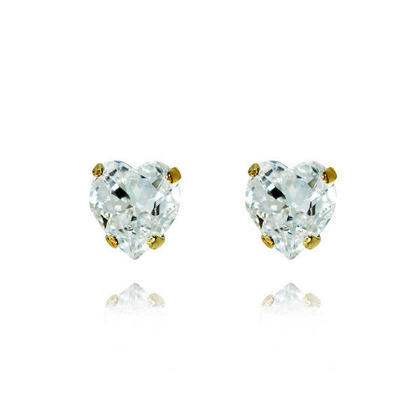 Heart Stud Earrings Crystal - Caroline Svedbom.