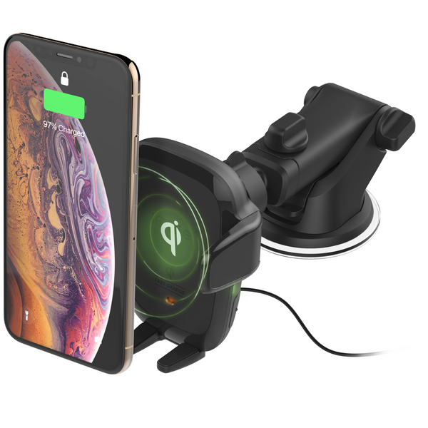 Auto Sense Automatic Wireless Charging Dash Mount - Black