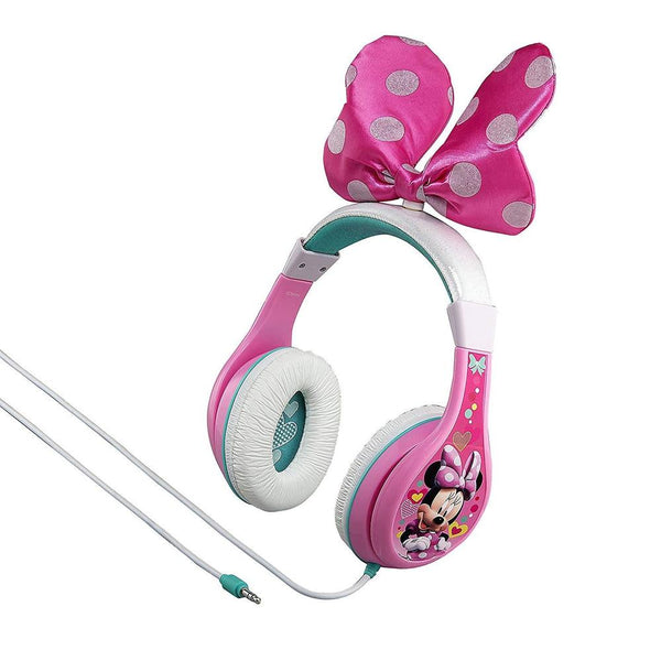 Kiddesigns Over-Ear Headphone Minnie Mouse Youth Headphones With Bow