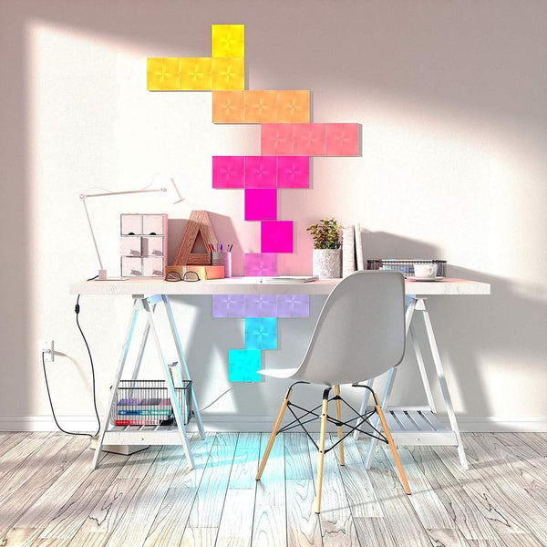 Nanoleaf - Canvas Square White Expansion 9 Pack Touch And Rhythm Sensitive LED