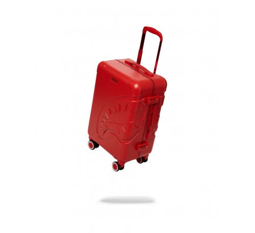 SPRAYGROUND - 22'' RED MOLDED SHARKMOUTH CARRY-ON