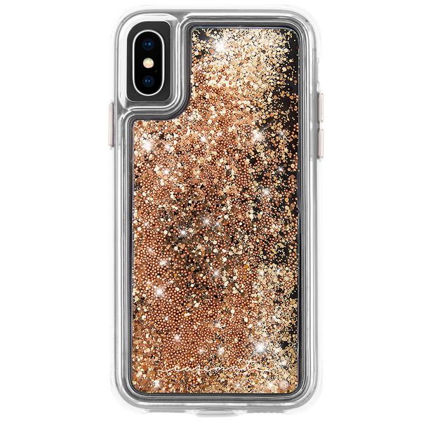 Waterfall Case For iPhone XS/X Gold