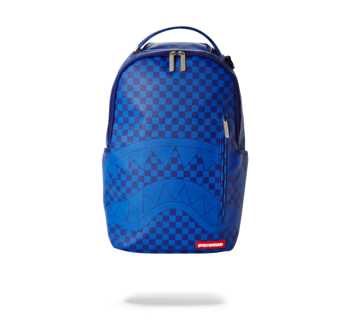 SPRAYGROUND - BLUE CHECKERED SHARK BACKPACK