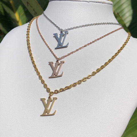 LV Necklace + Earrings - 3 colors