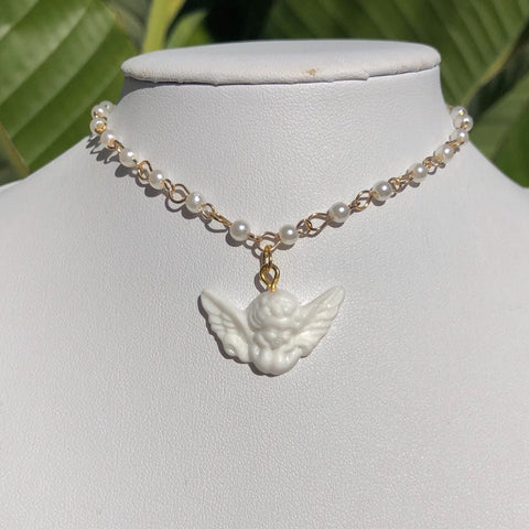 Pearl Angel Choker
