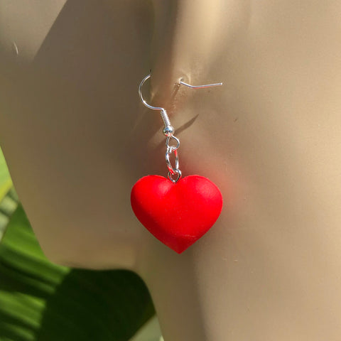 Cartoon Heart Earrings