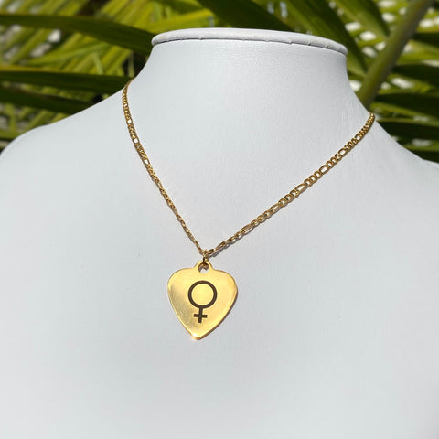Venus Heart Necklace 18KGP