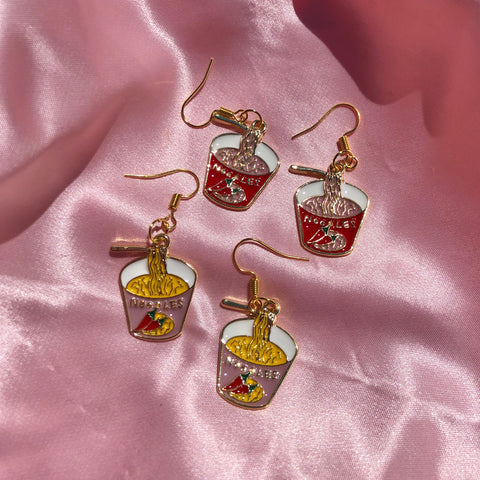 Ramen Noodle Earrings