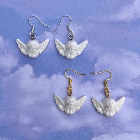 Baby Garden Cherub Earrings