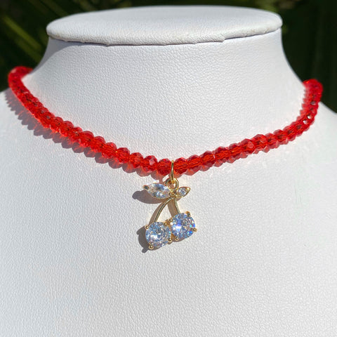 Luxe Red Cherry Choker