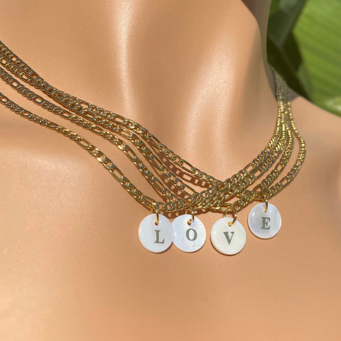 A-Z Initial Pearl Pendant Necklace