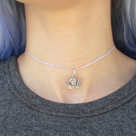 The Cherub Choker Silver