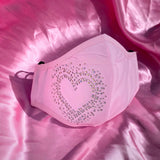 Pink Rainbow Heart Mask