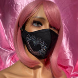 Black Rainbow Heart Mask