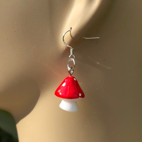 Mushroom Earrings - 3 Colors