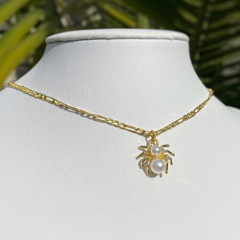 Pearl Spider Necklace
