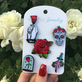 Rose Pin Set
