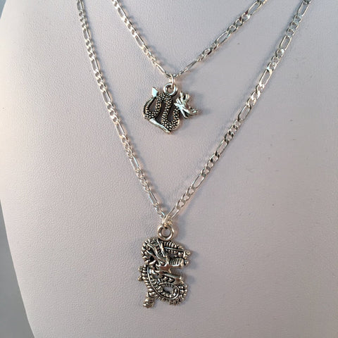 Silver Dragon Necklace - 2 options