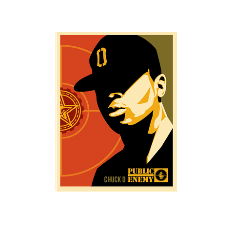 OBEY + CHUCK D POSTER BY SHEPARD FAIREY + DIGITAL ALBUM