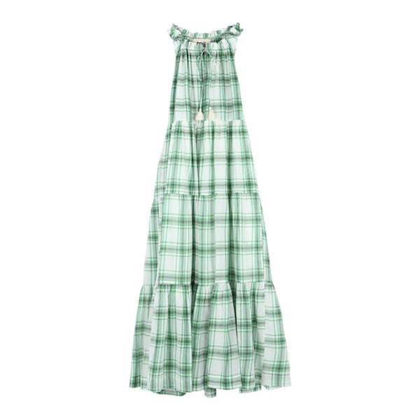 robe-gabrielle-les-madras-green-miicollection