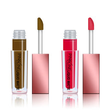 Load image into Gallery viewer, Pinkline Let Lips Loose Liquid MATTE Lipstick Set of 2 Gurmness,Rose Blush, 6gm