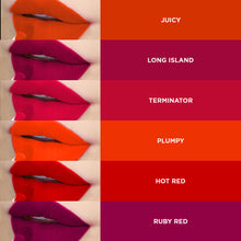 Load image into Gallery viewer, Pinkline Supple Smile Matte Lip Gloss Combo of 6 Juciy,Long Island,Terminator,Plumpy,Hot Red,Ruby Red, 36gm