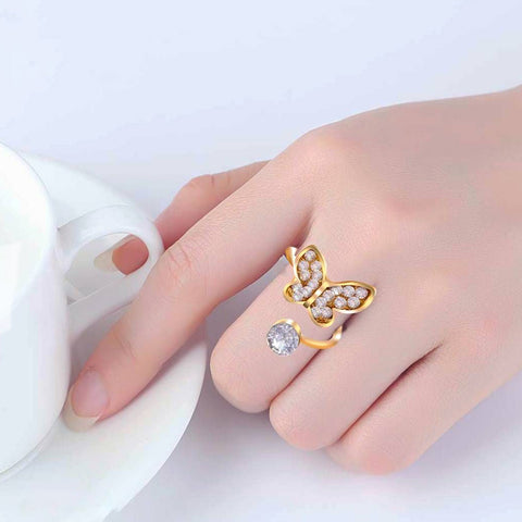 Gold Plated Ring with Elegant Design